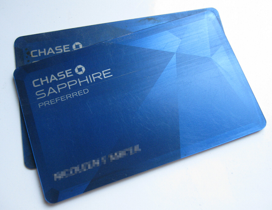Our well worn Sapphire Preferred cards (pre- chip+PIN)