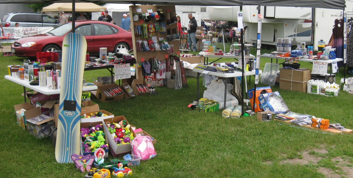 Our Display Tables At The Flea Market. 90% Of The Items For Sale Were