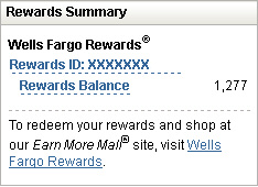wells fargo rewards summary