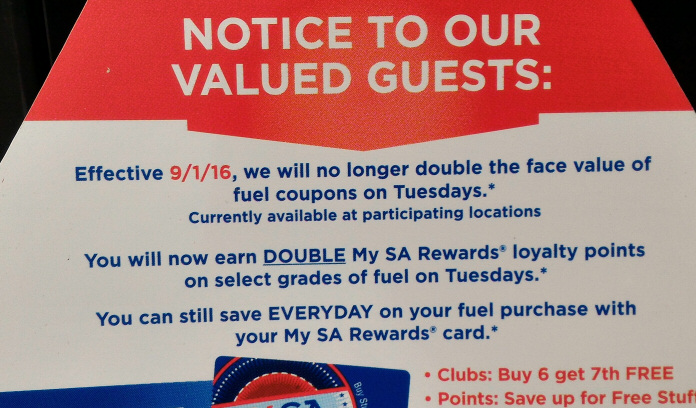 SuperAmerica Stops Double Coupon Tuesdays | Value Tactics