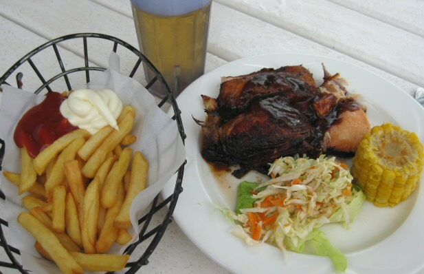 Couples Negril - Beach Grill jerk chicken