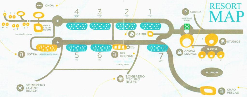 Andaz Papagayo resort map