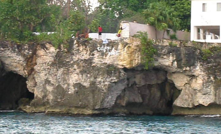 Couples Negril Resort Activities - catamaran cruise cliffs