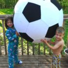 kids and giant ball