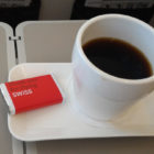 A cup of good strong coffee and one of the famed Swissair chocolates.