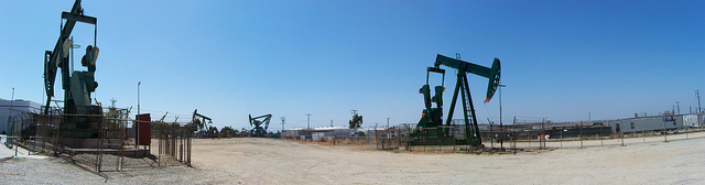 Signal Hill CA active oil field 2011