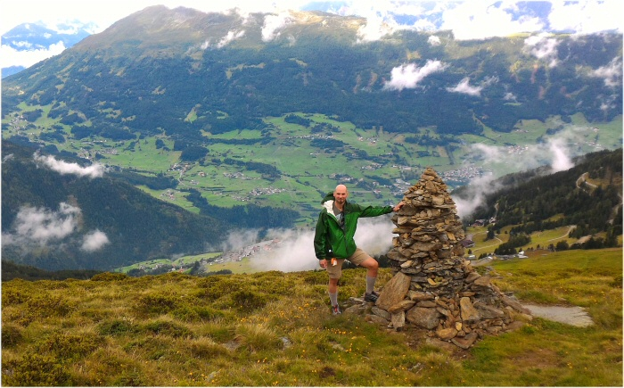 Me hiking in the Alps on my Euro2017 trip.  The net value of points and miles bookings for this trip was almost $6,100!