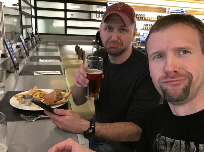 ValueTactics readers Jared and Derek sent me this photo from their weekend skiing trip to Utah. They're enjoying a free beer and a meal with the airport lounge access that comes as a benefit on Jared's Chase Sapphire Reserve card. Derek had to remind Jared about the free access or they would have walked right on by! Remember your travel perks, people!