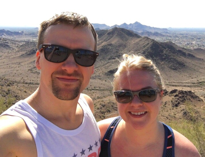 While their home state refused to let go of winter, Derek and Danie enjoyed the Arizona heat!